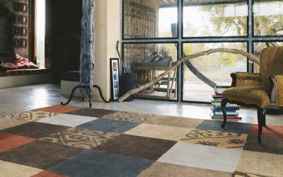 Ruimtelijk effect met tapijt